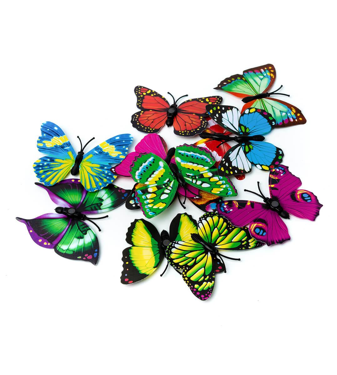 Декор Бабочки на магните 12шт с