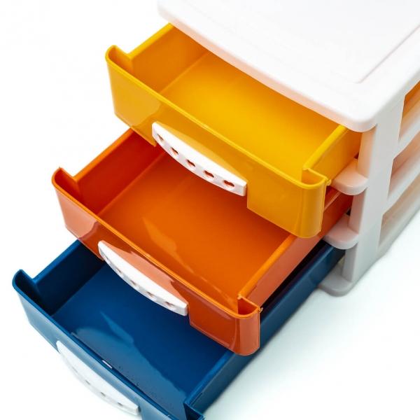 Комод пластиковый для мелочей 3ящика 17х13х15см Н01601с