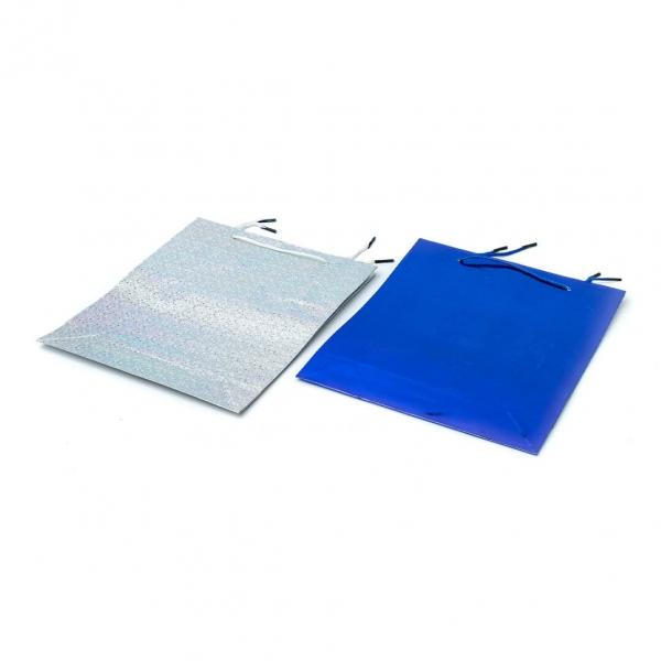 Пакет подарочный бум 14х11х6,5см цветной
