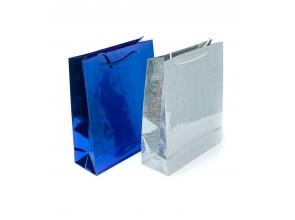 Пакет подарунковий паперовий 23х18х8см кольорова фольга