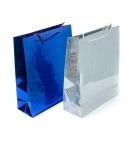 Пакет подарочный бум 23х18х8см цветная фольга