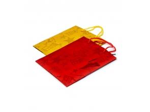 Пакет подарунковий паперовий 32х26х10см кольорова фольга с