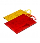 Пакет подарочный бум 32х26х10см цветная фольга с