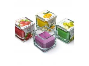 Свеча ароматическая в стеклянной квадратной баночке с