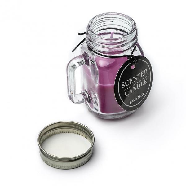 Свеча ароматизированная в стеклянной баночке с крышкой c