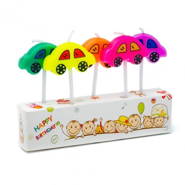 Свечи для торта Машинка набор 5шт с
