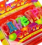 Свечки для торта С Днем рождения с глитером с
