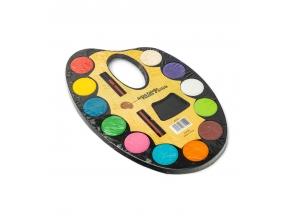 Акварель 12цветов сухая Палитра пластик 4605c