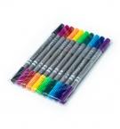 Фломастеры 10цветов двухсторонние PR-4211 c