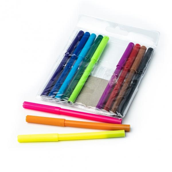 Фломастеры 12цветов 858-12 с