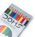 Карандаши 12цветов DOMS 3445c