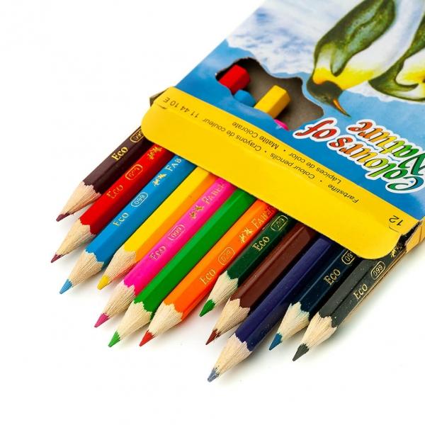 Карандаши цветные 12цветов COLOR PENCILS mini (4106) с