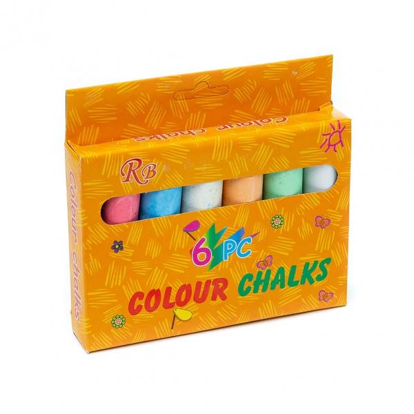 Мелки цветные 6шт Colour c