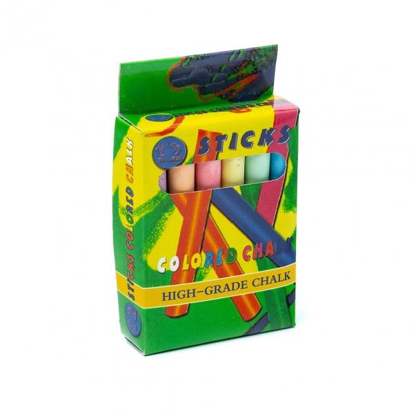 Мелки цветные STICKS 12шт (6526) с