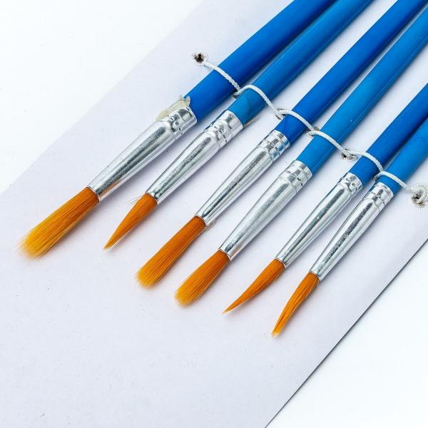 Набор кисточек для рисования 6шт