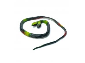 Игрушка змея двухголовая резиновая с