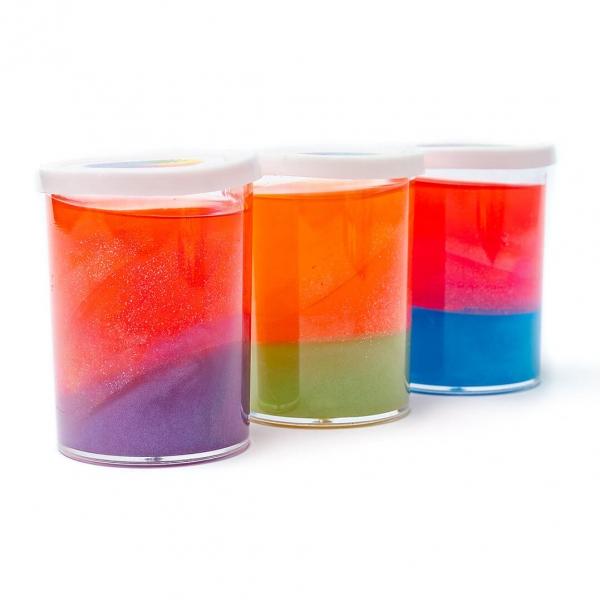 Лизун в пластиковой банке перламутр 3-х цветный с