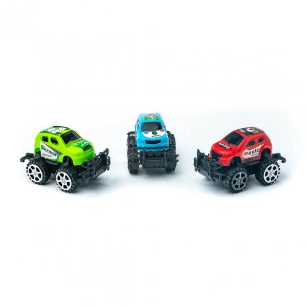 Машинки инерционные Джип цветные 3шт с