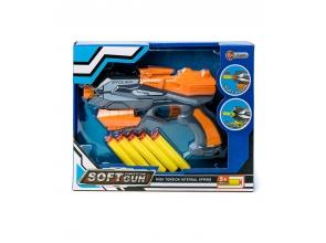Іграшковий Пістолет+5м'яких патронів в коробці с