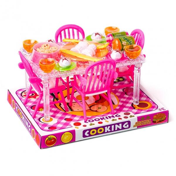 Набор кухня детская стол 4стула на блистере A8-853 c