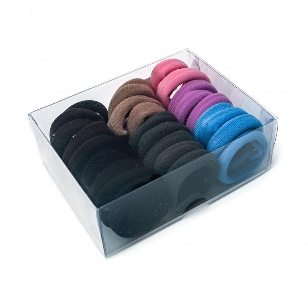 Резинка для волос велюровая цветная с