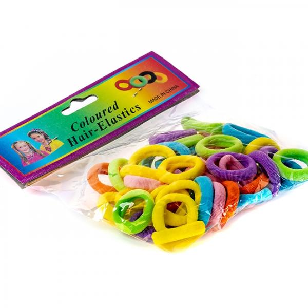 Резинка для волос цветная набор 50шт с