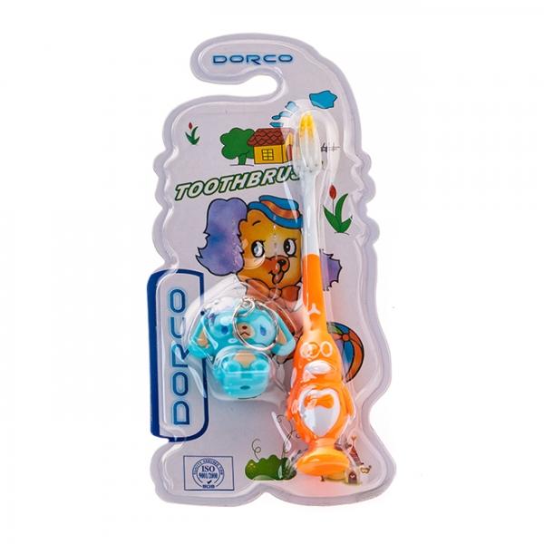 Зубная щетка детская Dorco с игрушкой 2002 с